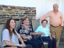 Visita de Belén Pucci y María Pompeya (socia Emérita) a Quintá