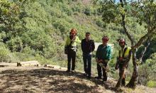 Un equipo de cinco operarios comenzó las actuaciones de mejora adjudicadas en la Ruta Quintá-Río Donsal
