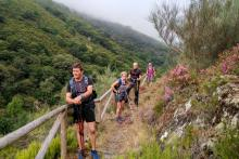 """Experimentados senderistas catalanes califican la """"Ruta Quintá-Río Donsal"""" como variada, con magníficas vistas y bien señalizada"""