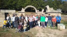 Éxito de la visita guiada al Yacimiento Arqueológico Aquis Querquennis de Bande (Ourense), organizada por Aquae